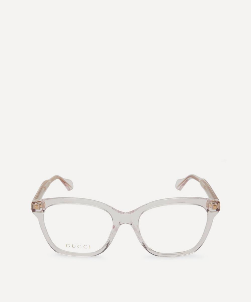 Gucci - Clear Acetate Wayfarer Glasses