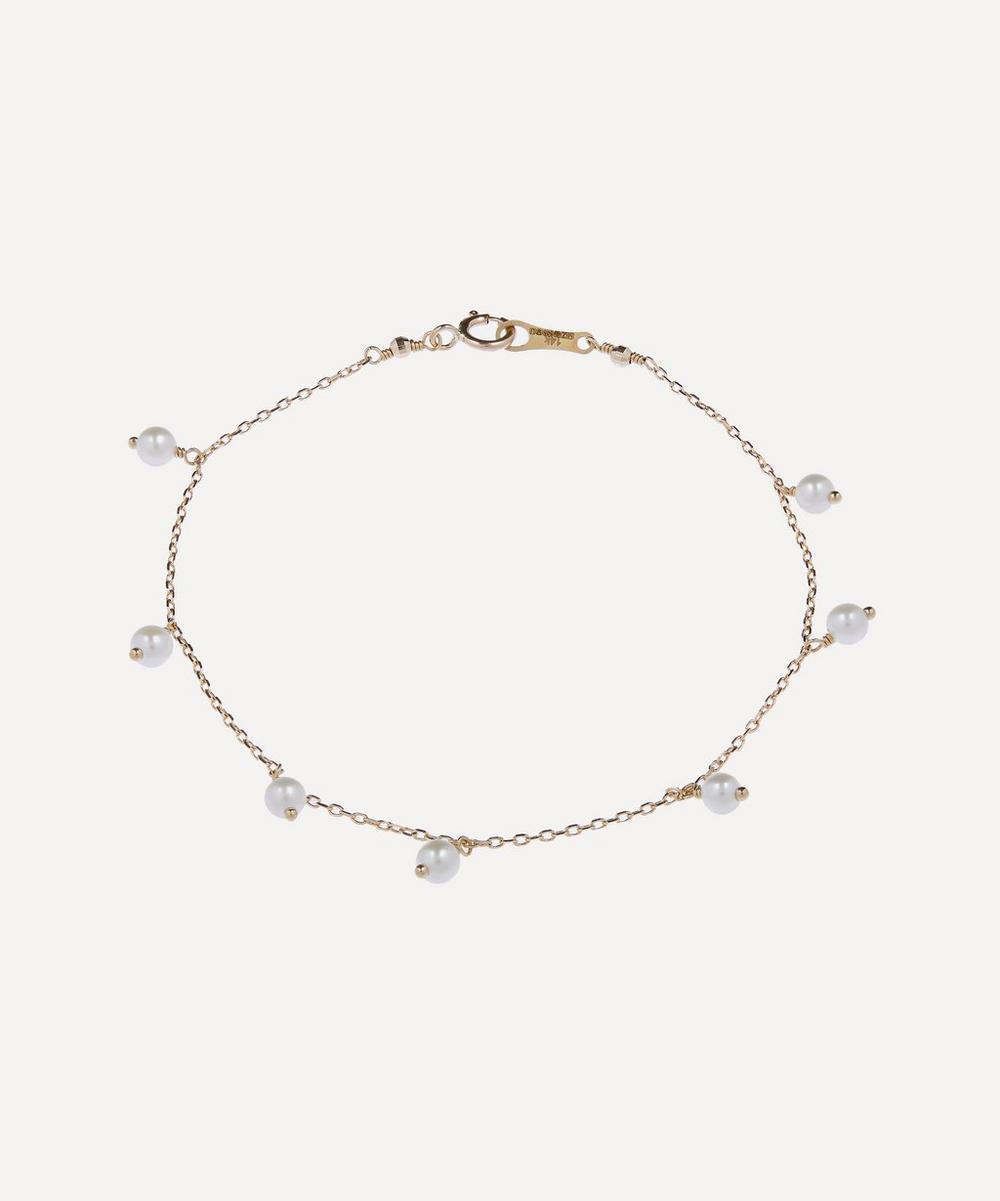 Mizuki - Gold Pearl Drop Bracelet