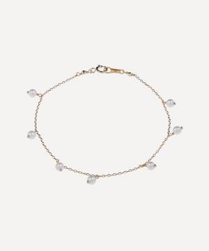 Gold Pearl Drop Bracelet