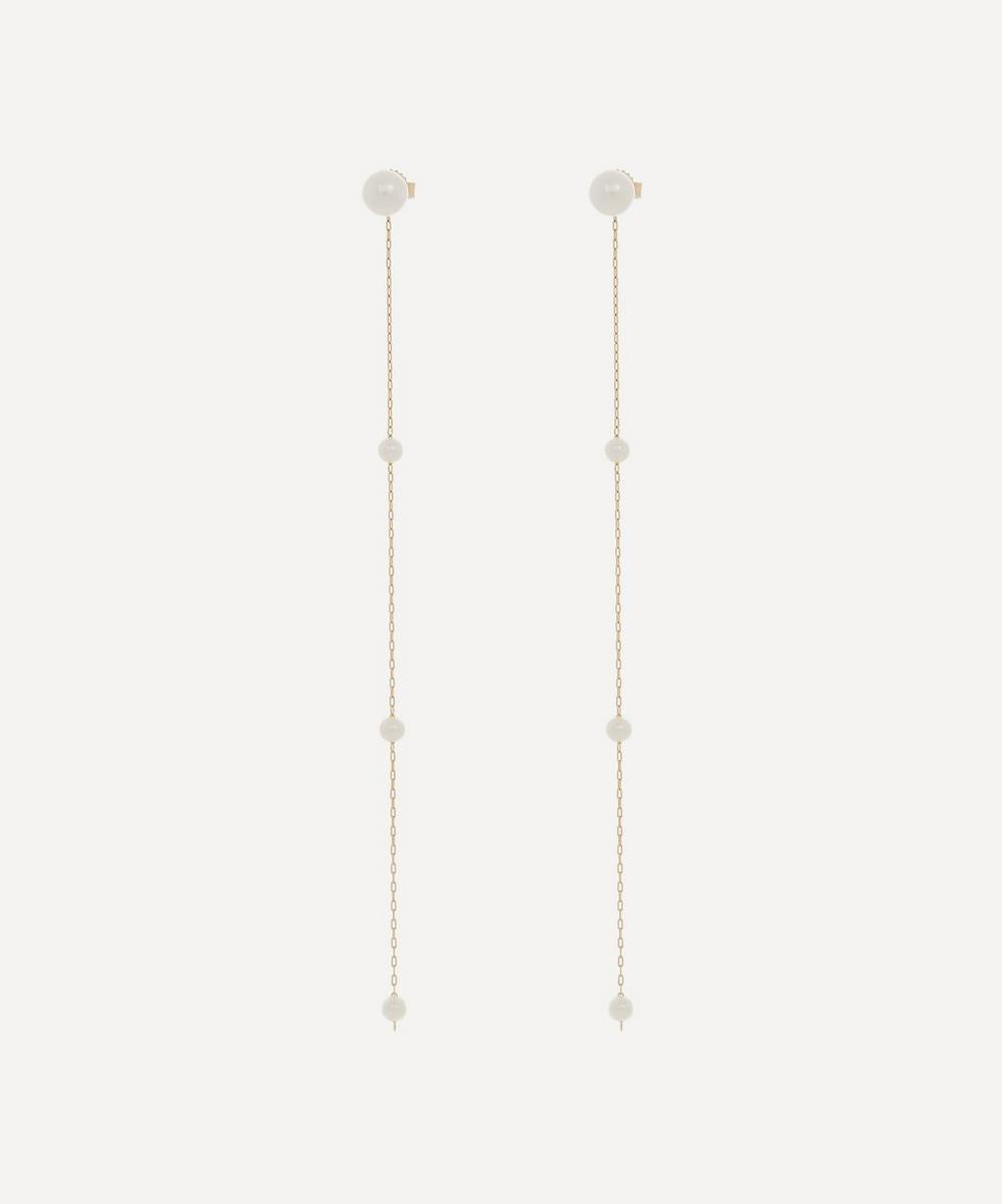 Mizuki - Gold Pearl Detachable Drop Earrings