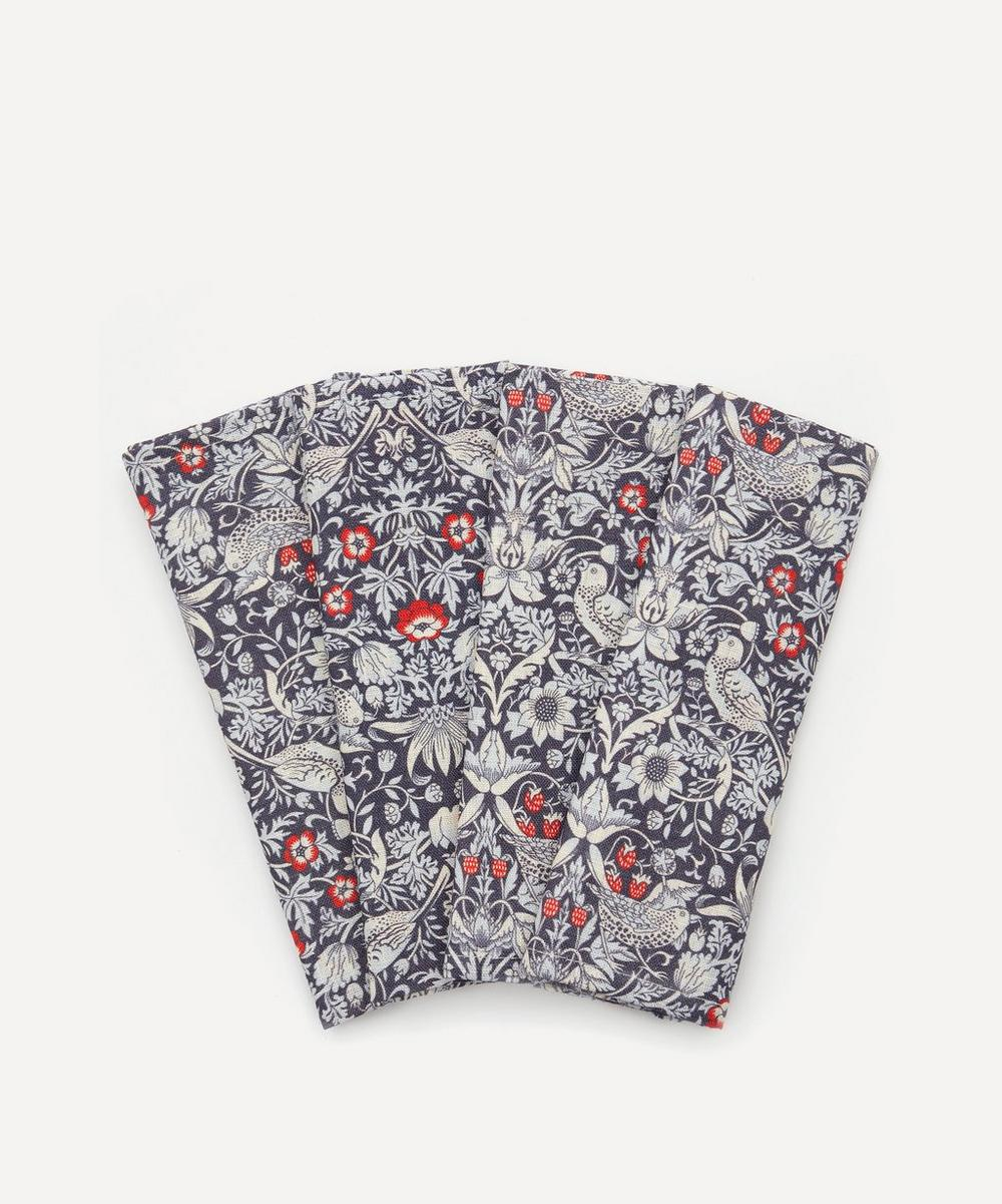 Liberty - Strawberry Thief Linen Napkins Set of Four