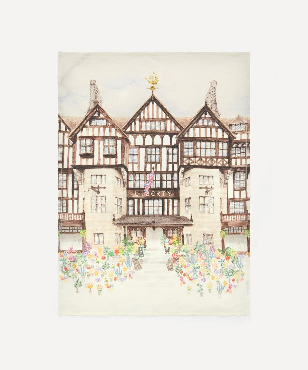 Liberty London - The Liberty Building Linen Tea Towel