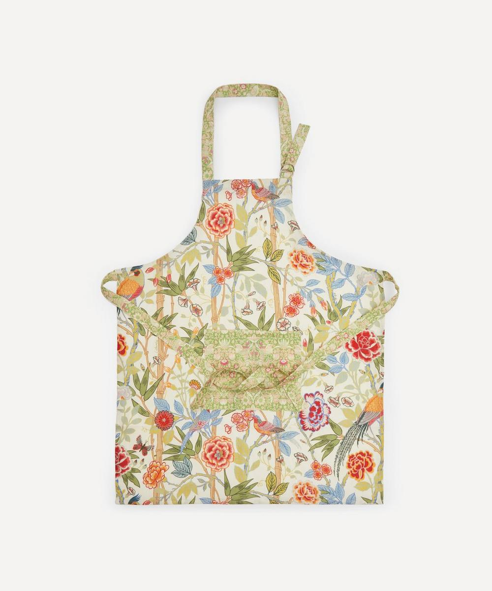Liberty London - Bamboo Garden and Strawberry Thief Linen Apron
