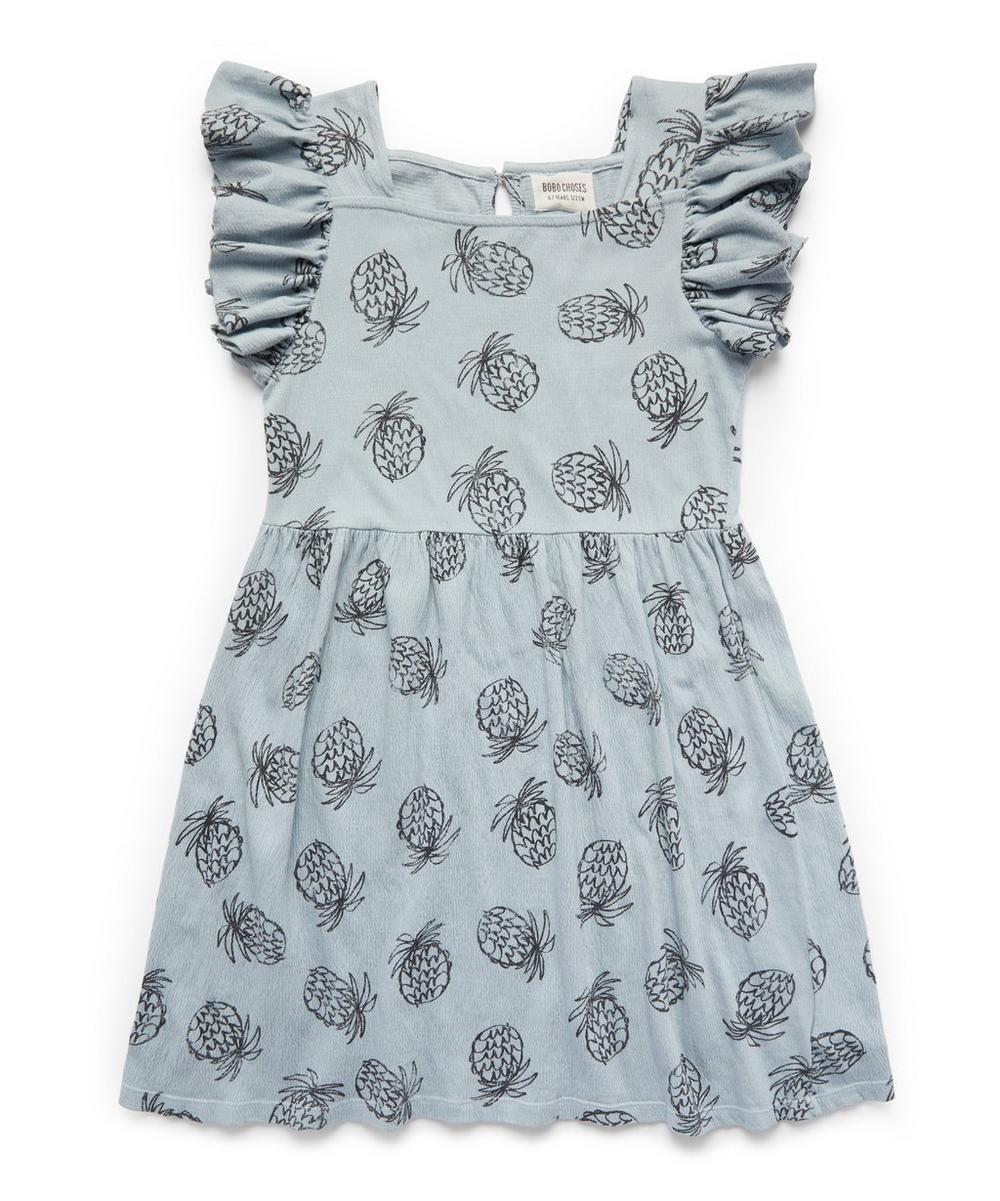 Bobo Choses - Pineapple Jersey Ruffle Dress 2-8 Years