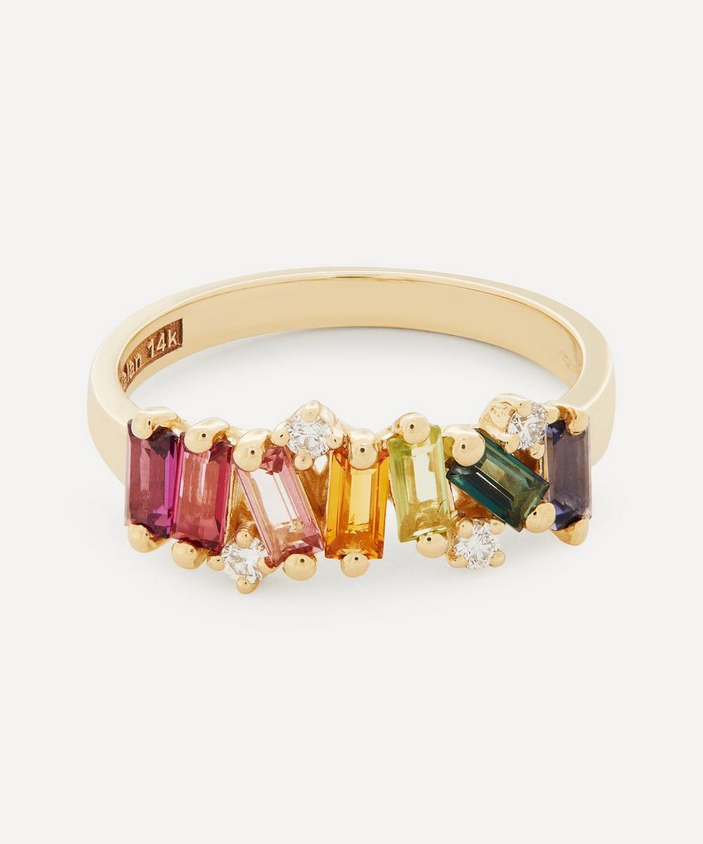 Suzanne Kalan - Gold Fireworks Multi-Stone Ring
