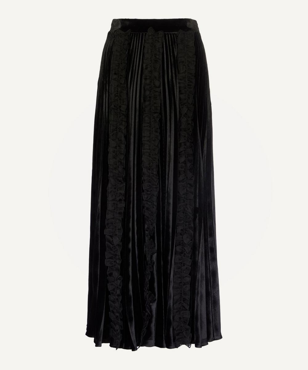 Christopher Kane - Pleated Velvet Frill Skirt