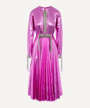 Laminated Chain Brooch Dress