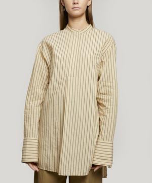 Aufray Collarless Silk Shirt