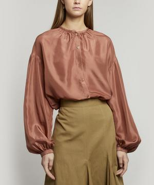 Bowell Gathered Silk Blouse