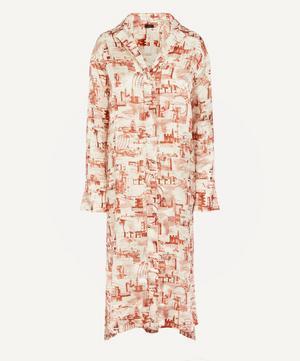 Gaya Stamp Print Shirt Dress
