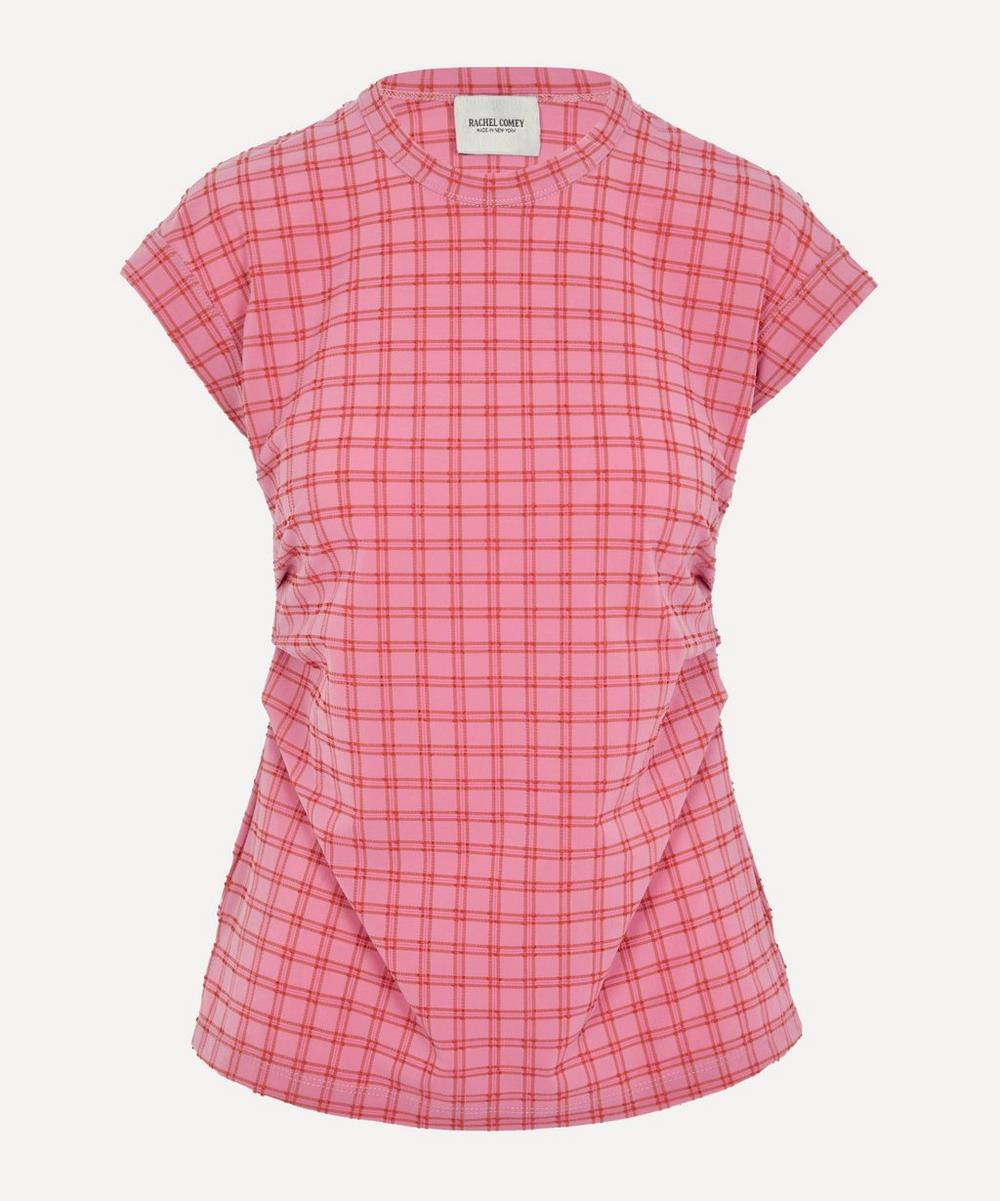 Rachel Comey - Dusk Ruched Plaid T-Shirt