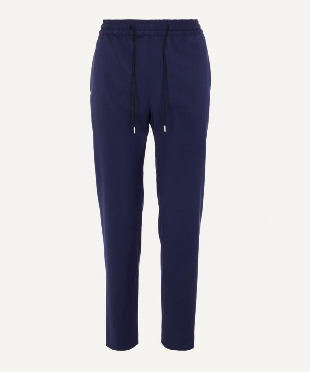 PS Paul Smith - Wool-Blend Tapered Drawstring Trousers