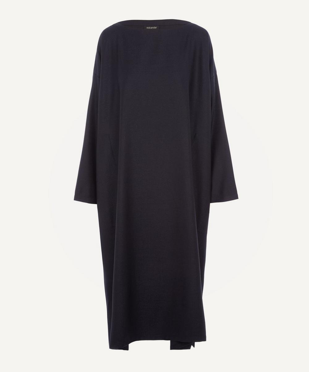 Eskandar - Wide A-Line Boat-Neck Dress