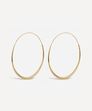 22ct Gold Plated Vermeil Silver Queenie Hoop Earrings