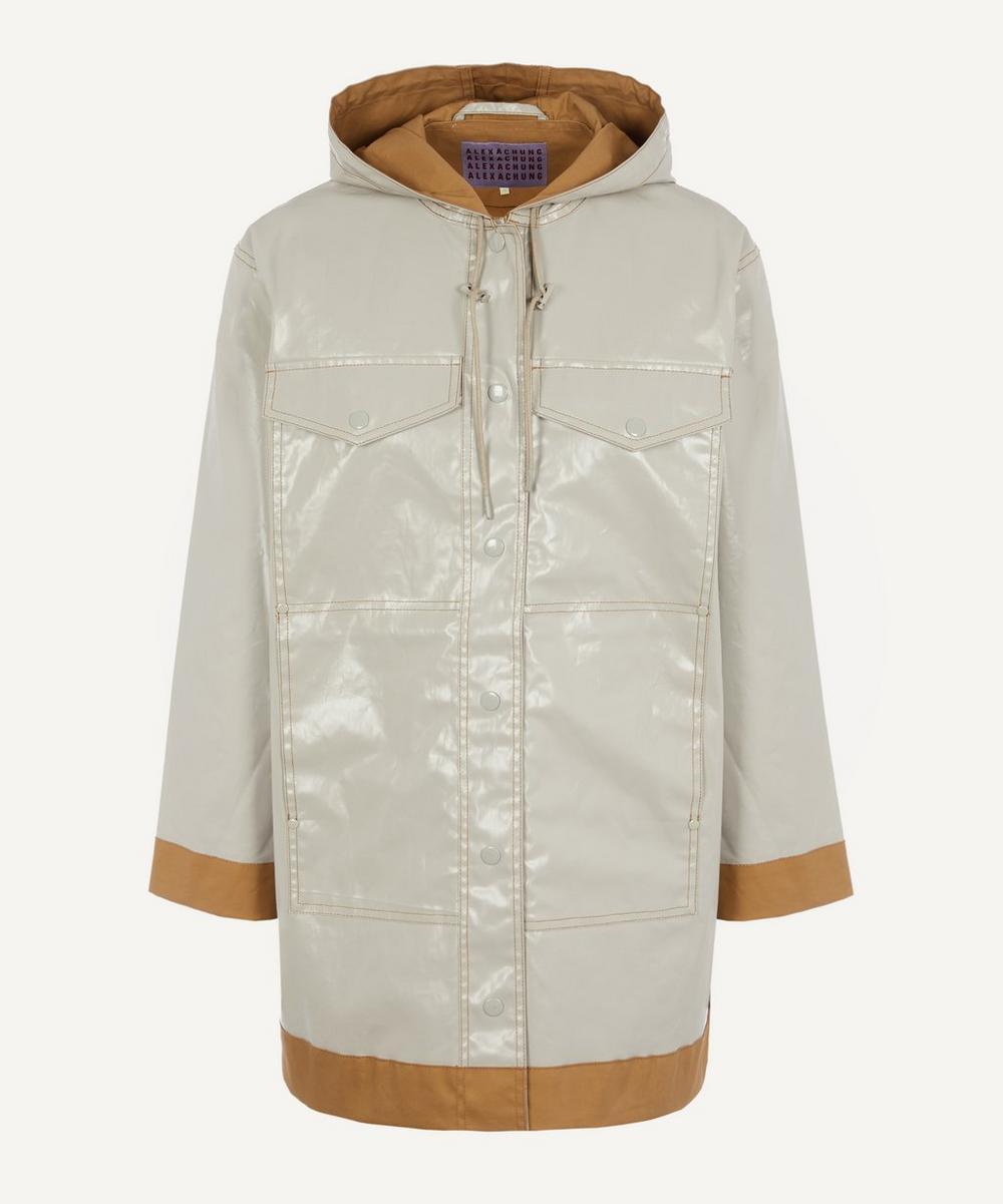 ALEXACHUNG - Laminated Hooded Jacket
