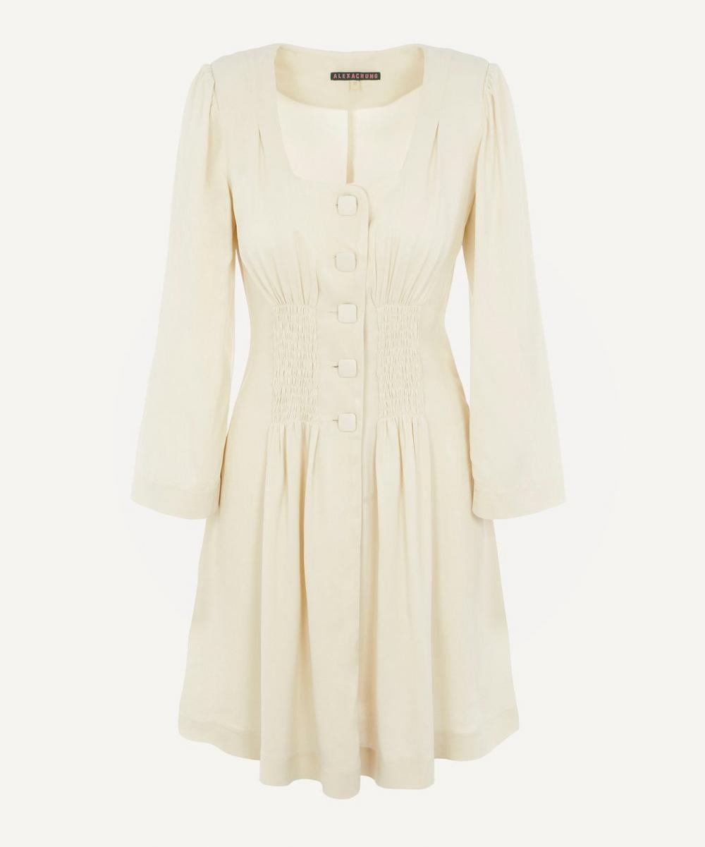 ALEXACHUNG - Gathered Front Dress