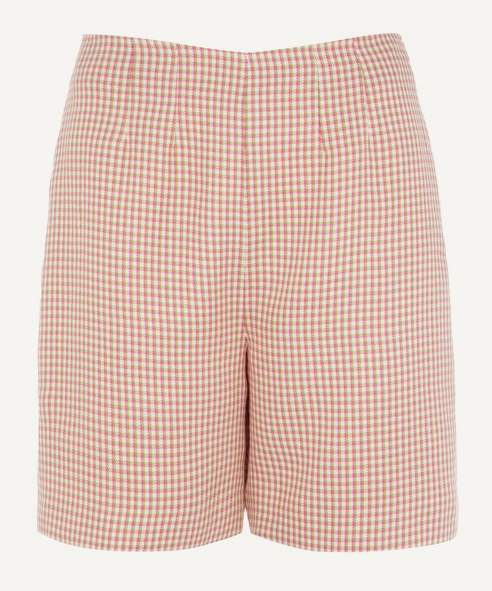 ALEXACHUNG - Darted Houndstooth Shorts