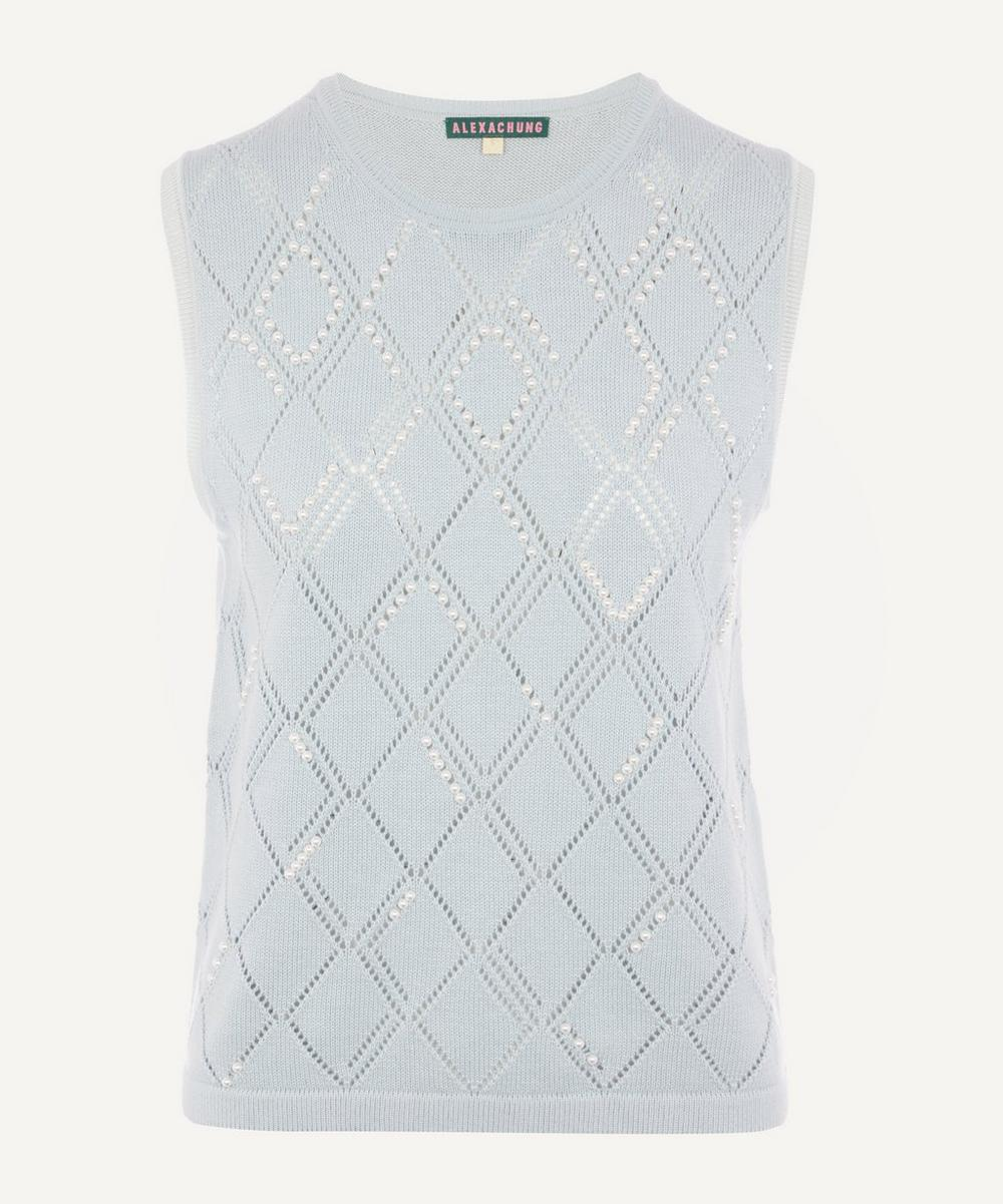 ALEXACHUNG - Embroidered Knitted Tank Top