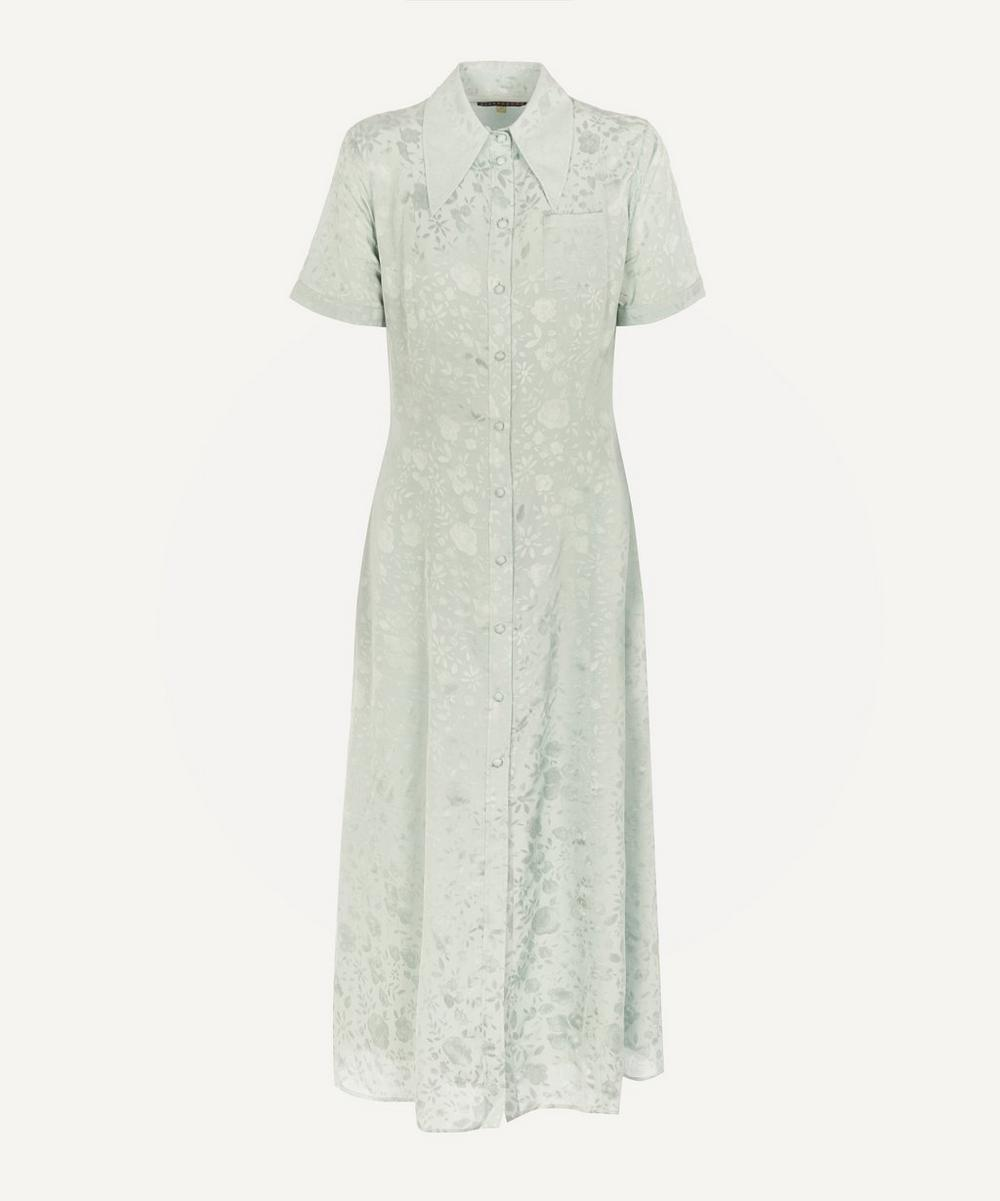 ALEXACHUNG - Puff Sleeve Embroidered Dress
