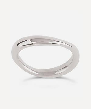 Silver Wave Stacking Ring