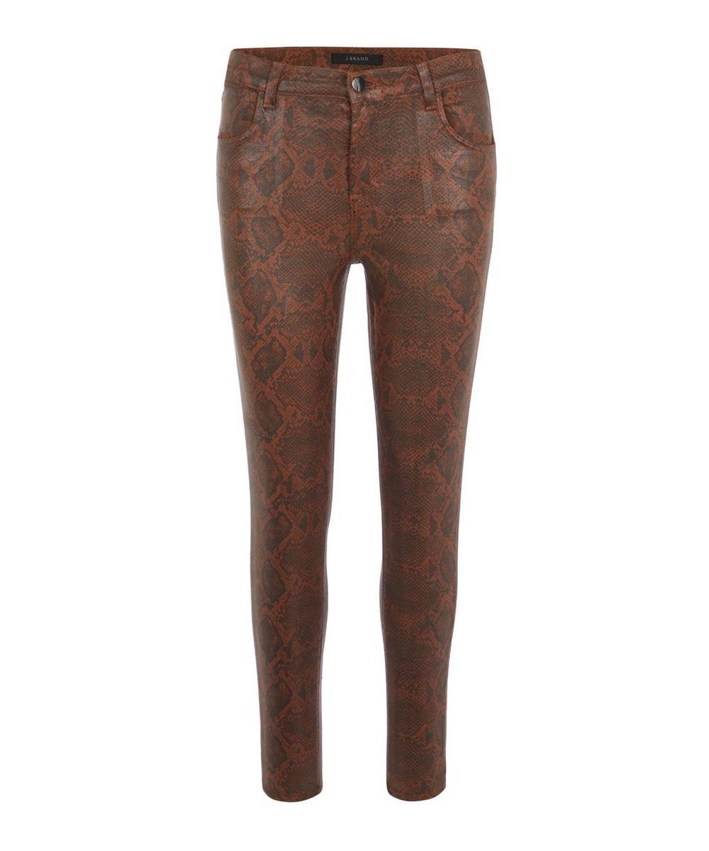 J Brand - Alana Snakeskin Print Super Skinny Jeans