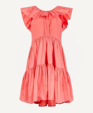 Alessa Tiered Large Collar Dress
