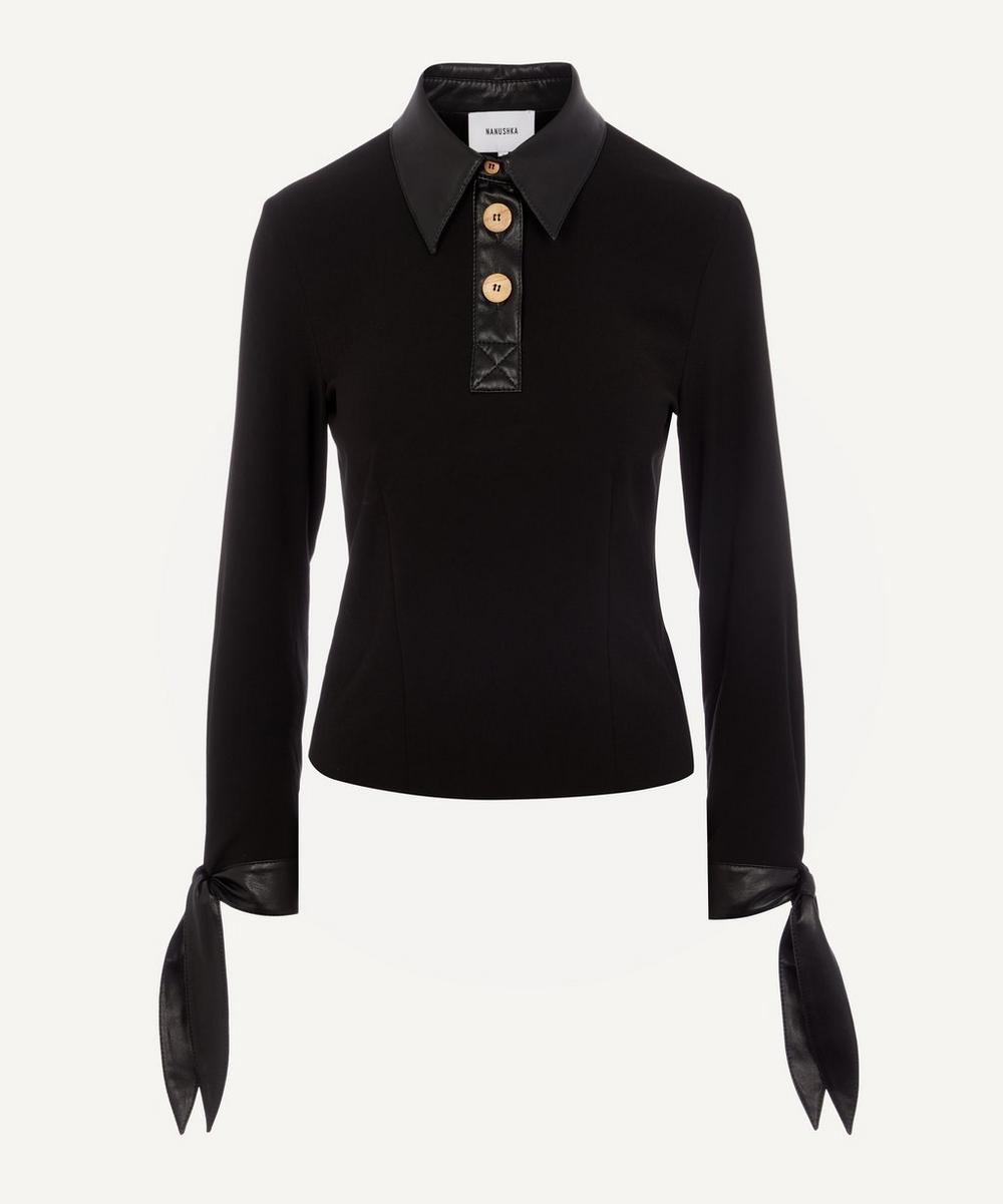 Nanushka - Agnes Contrast Polo Shirt