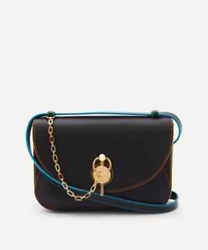 Medium Keyts Neon Trim Leather Cross-Body Bag