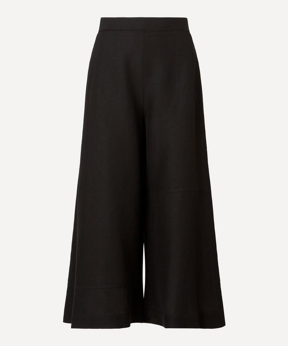 Loewe - Linen-Blend Culotte Trousers