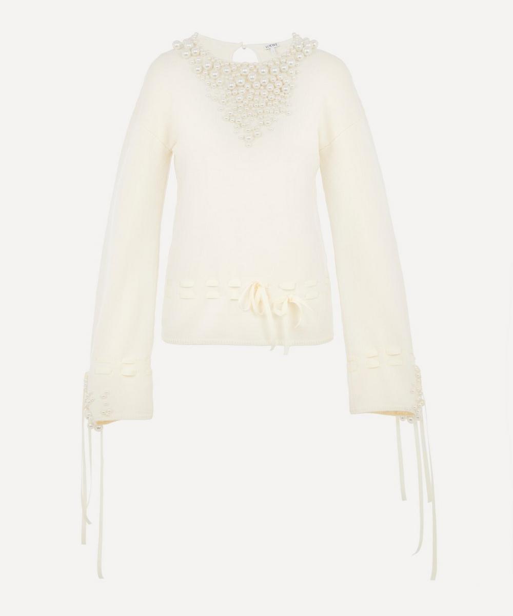 Loewe - Knit Embellished Pearl Jumper