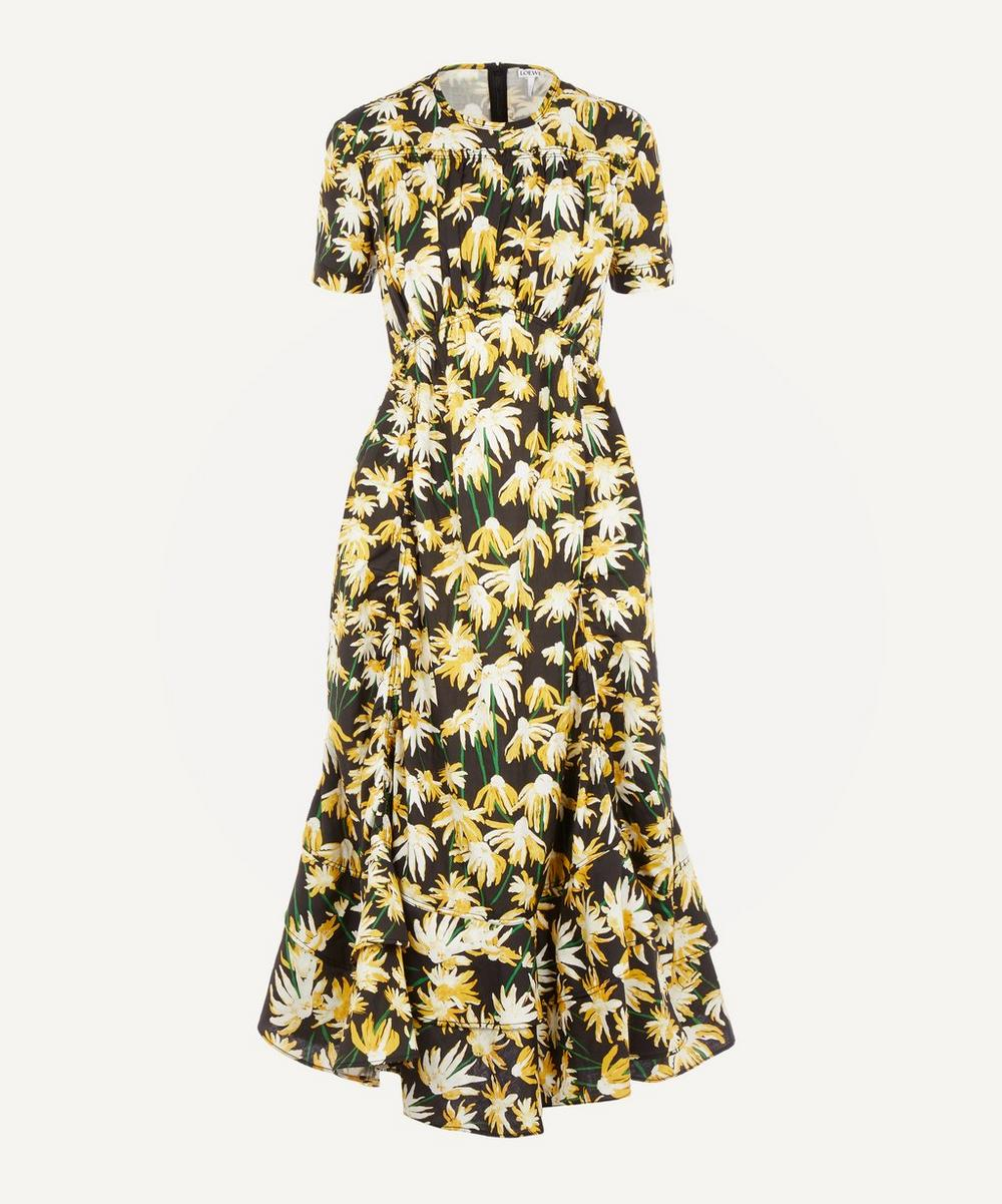 Loewe - Floral Cotton Midi-Dress