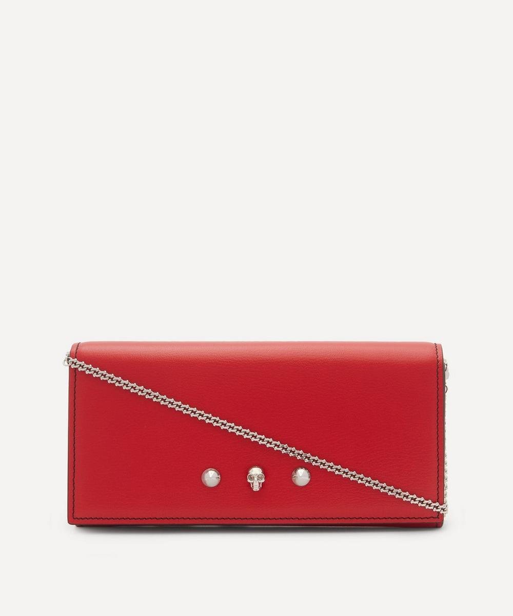 Alexander McQueen - Leather Skull Wallet on Chain