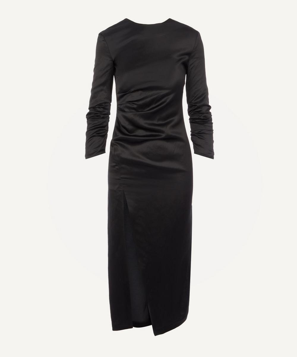 A.W.A.K.E. - Side Split Gathered Midi-Dress