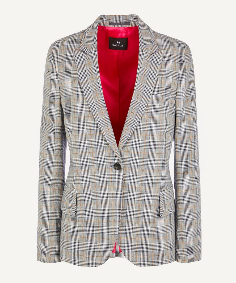 PS Paul Smith - Single-Breasted Check Cotton-Blend Jacket