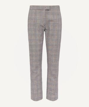 Check Cotton-Blend Trousers