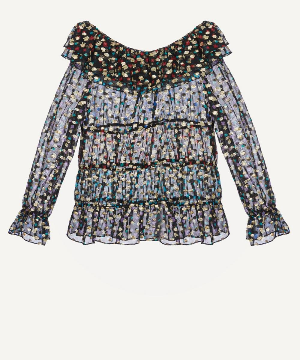 RIXO - Chloe Tiered Floral-Print Blouse