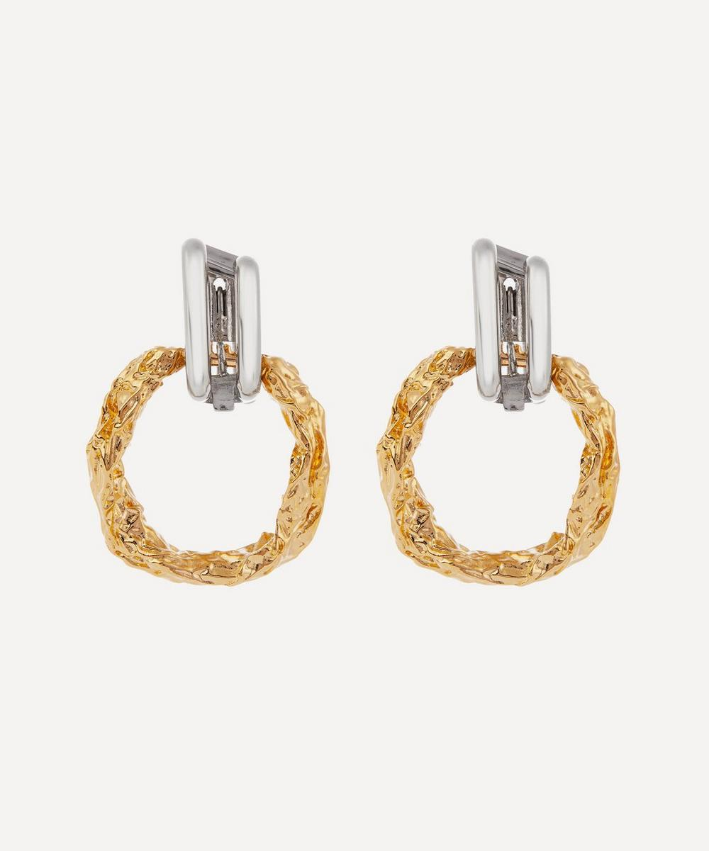 Chloé - Textured Hoop Drop Earrings