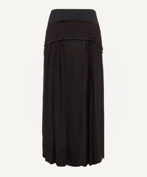 Peplum Silk Maxi-Skirt