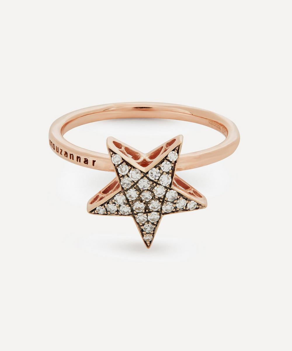 Selim Mouzannar - Rose Gold Istanbul Pavé Diamond Star Ring
