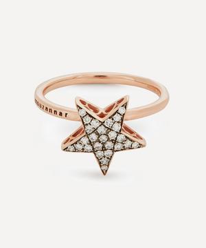 Rose Gold Istanbul Pavé Diamond Star Ring