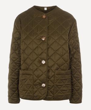 Bardsey Quilted Logo-Jacquard Twill Jacket