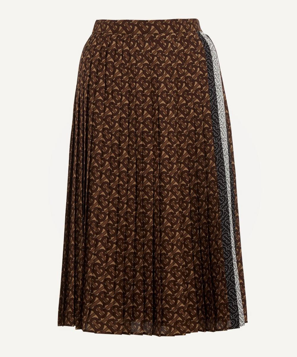 Burberry - Marine Monogram Silk Skirt
