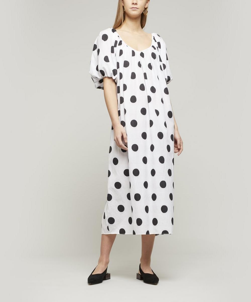 Mara Hoffman - Romina Polka-Dot Cotton Midi-Dress