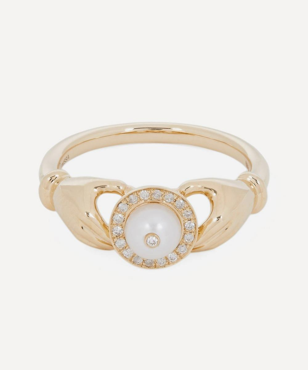 Anissa Kermiche - Gold Hands Pearl and Diamond Ring