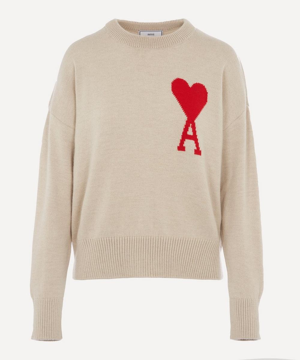 Ami - Ami De Coeur Knitted Logo Jumper
