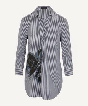 Flower Stripe Classic Shirt