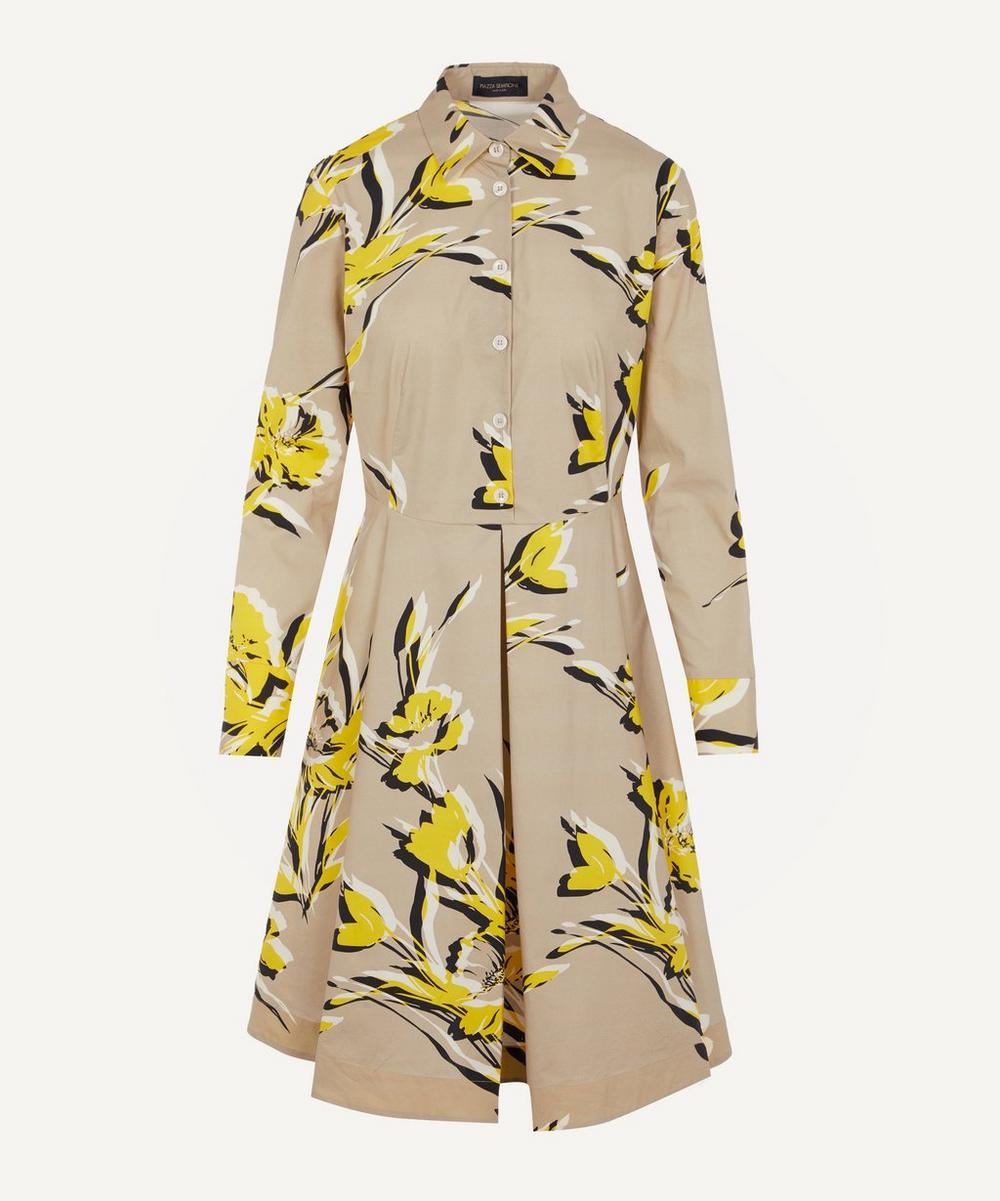 Piazza Sempione - Yellow Flowers Shirt Dress