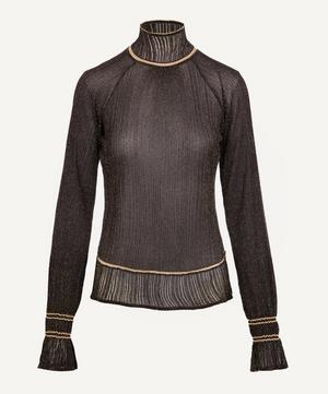 Lurex High Neck Knit