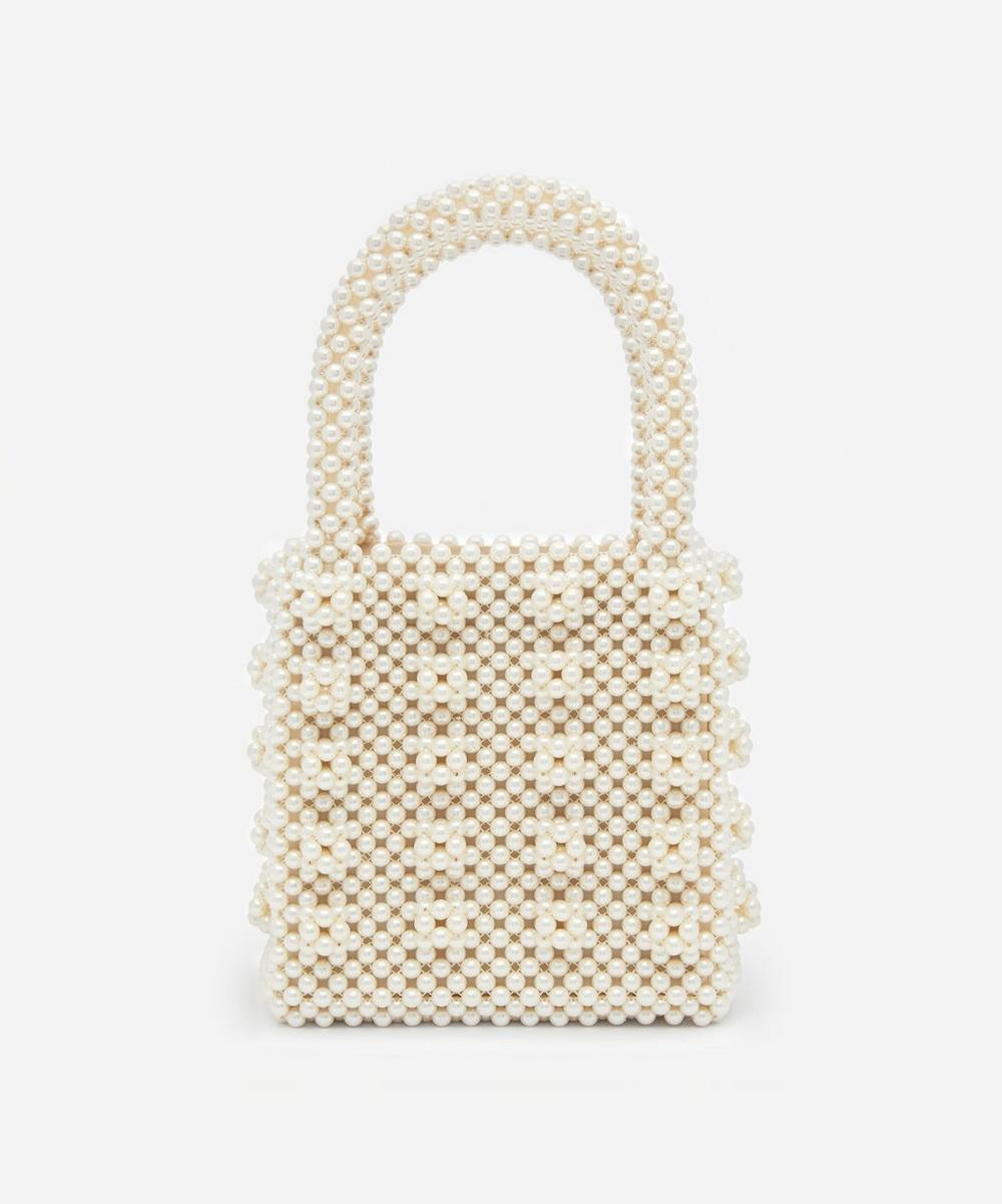 Shrimps - Antonia Faux Pearl Beaded Handbag