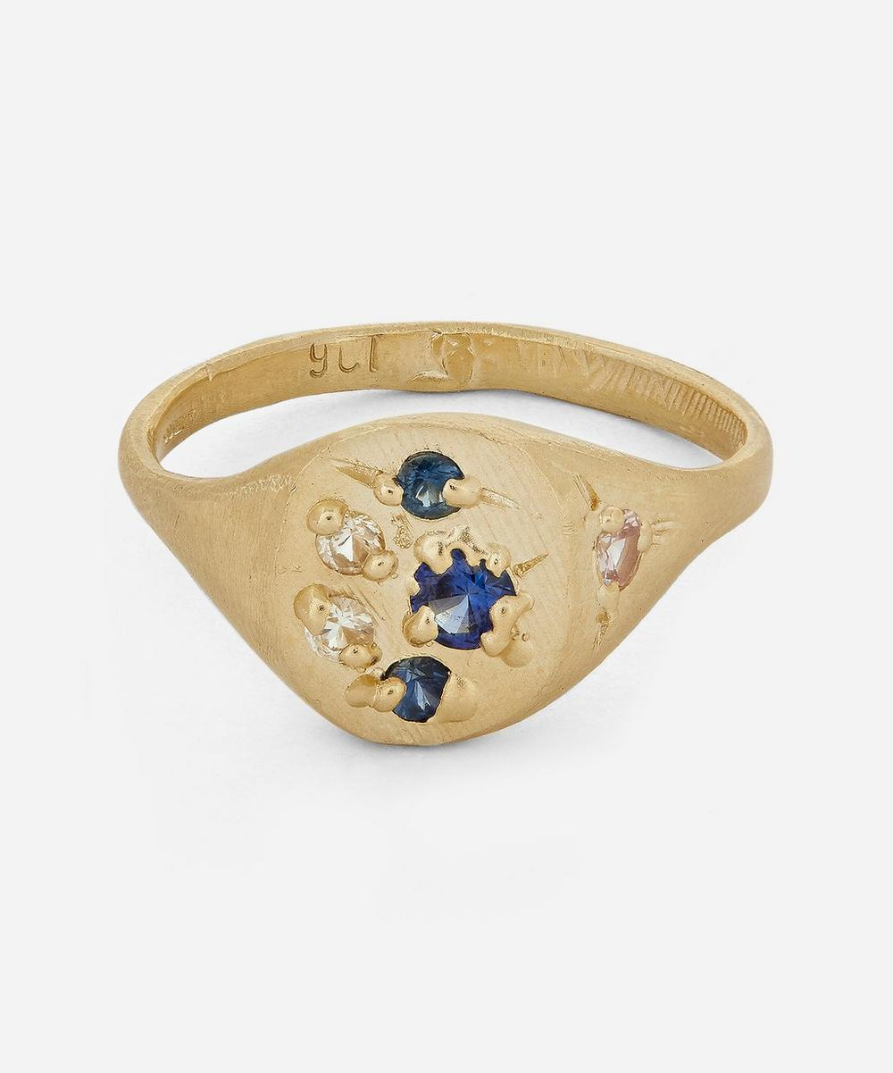 Seb Brown - Gold Sapphire Rough Signet Ring